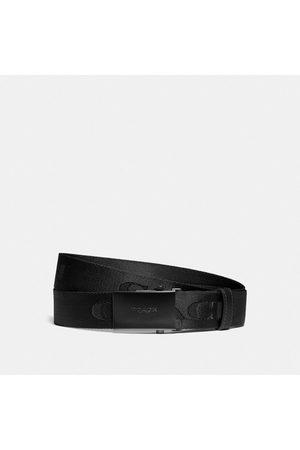 Coach Cinturón de hebilla con placa estampado, 35 mm in Black - Size L