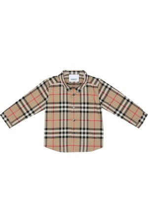 Burberry Bebé – camisa de algodón de cuadros