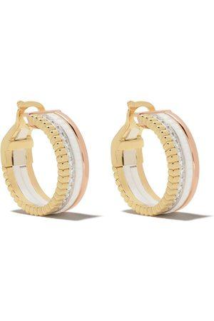 Boucheron Mujer Pendientes - Aros Quatre White Edition en oro amarillo, blanco y rosa de 18kt con diamante