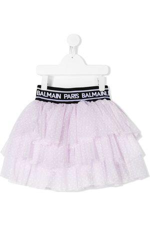Balmain Niña Faldas - Falda de tul con motivo de lunares
