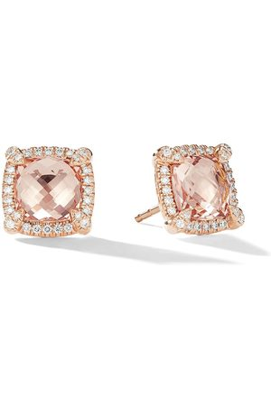 David Yurman Pendientes Châtelaine con diamantes y moganita en oro rosa de 18kt