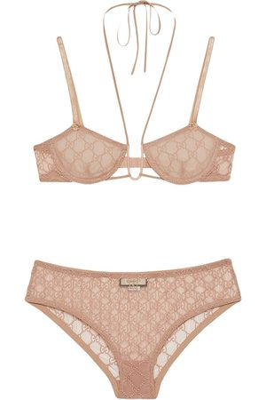 Gucci Mujer Conjunto de lencería - Set de lencería con tul y motivo GG