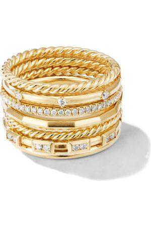 David Yurman Anillo Cable Stax con diamantes en oro amarillo de 18kt