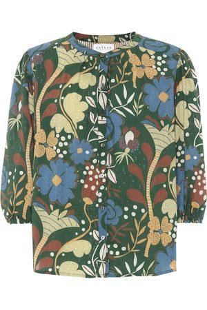 Velvet Top Affie de algodón floral