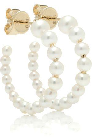 SOPHIE BILLE BRAHE Argollas Marco de oro de 14 ct y perlas