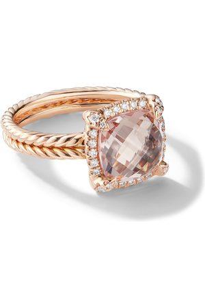David Yurman Anillo Châtelaine con diamantes y moganita en oro rosa de 18kt