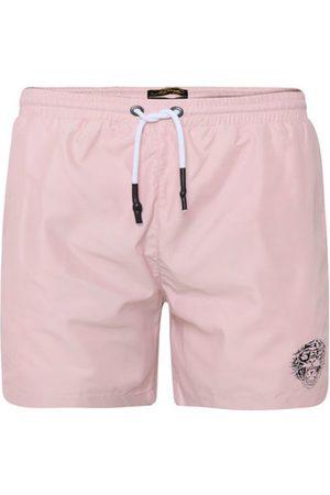 ED HARDY Bañador - Roar-head swim short dusty pink para hombre