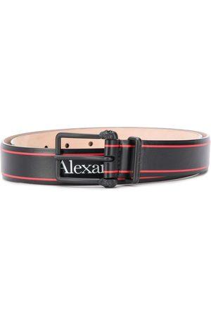 Alexander McQueen Cinturón con hebilla del mismo tono y logo