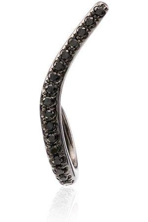 YVONNE LÉON 18K black gold Ligne diamond earring