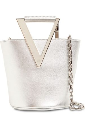 Roger Vivier | Mujer Rv Metallic Leather Bucket Bag Unique
