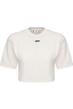 OFF-WHITE | Mujer Camiseta De Jersey De Algodón Con Logo /negro Xxs