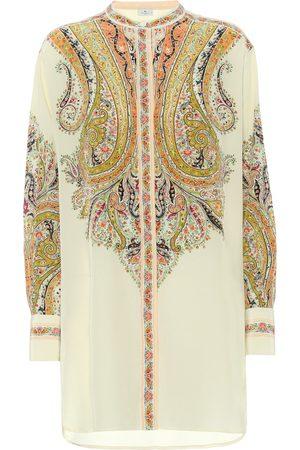 Etro Blusa de seda con print paisley
