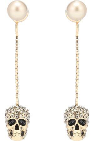 Alexander McQueen Aretes con calaveras y cristales
