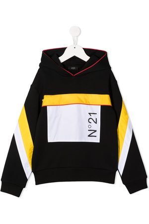 Nº21 Colour-block hooded sweatshirt