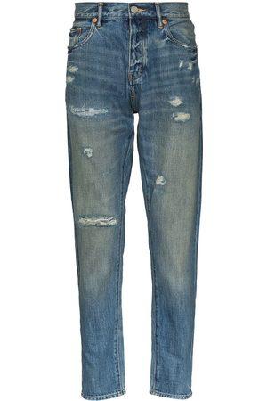 Purple Brand Distressed straight-leg jeans