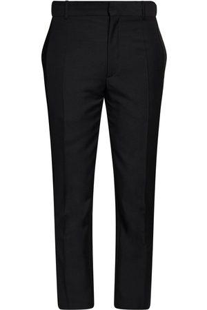 Alexander McQueen   Hombre Pantalones De Lana Y Mohair 17cm 46