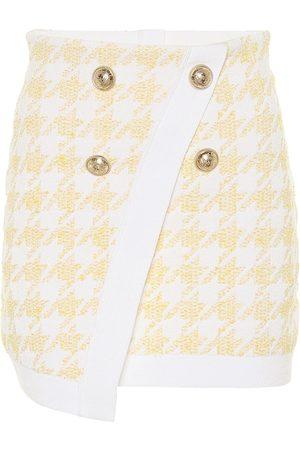 Balmain Mujer Minifaldas - Exclusivo en Mytheresa – minifalda ajustada de jacquard pata de gallo