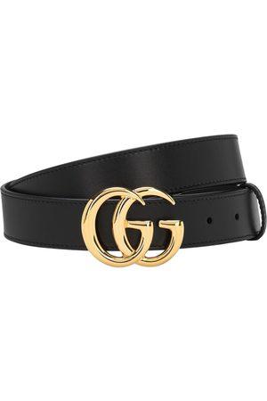 Gucci | Hombre Cinturón De Piel Con Hebilla Gg 3cm 80
