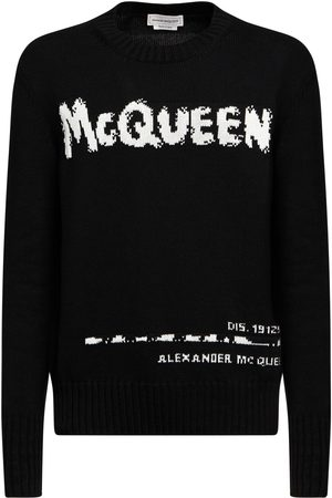 Alexander McQueen | Hombre Suéter De Punto De Algodón Con Logo Xs