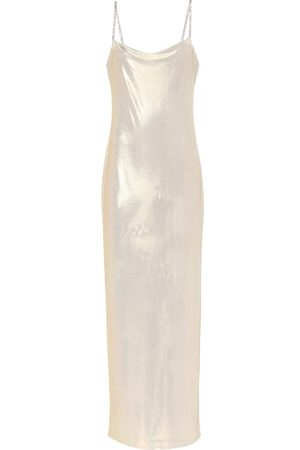 Balmain Exclusivo en Mytheresa – vestido lencero de lamé