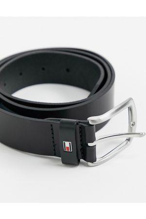 Tommy Hilfiger Cinturón de cuero en negro de 3.5 cm New Denton de