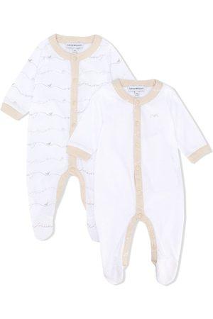 Emporio Armani Set de dos pijamas abotonados