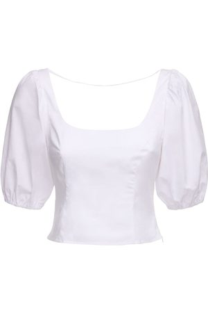 Staud | Mujer Stretch Cotton Poplin Top 0