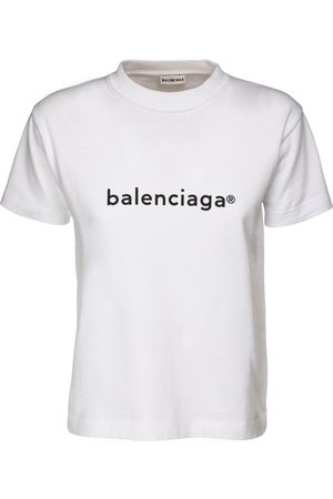 Balenciaga | Mujer Camiseta De Jersey De Algodón Estampada /negro Xs