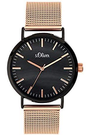 s.Oliver Mujer Relojes - Reloj Analógico para Mujer de Cuarzo con Correa en Acero Inoxidable SO-3668-MQ