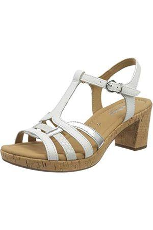 Gabor Shoes Comfort Sport, Sandalia con Pulsera para Mujer, (Weiss/Silber(Kork) 50)