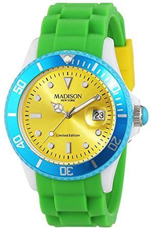 Madison Reloj Análogo clásico para Unisex de Cuarzo con Correa en Caucho U4484G