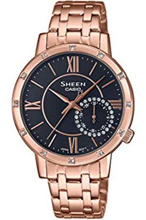 Casio Reloj Analógico para Mujer de Cuarzo con Correa en Acero Inoxidable SHE-3046PG-8AUER