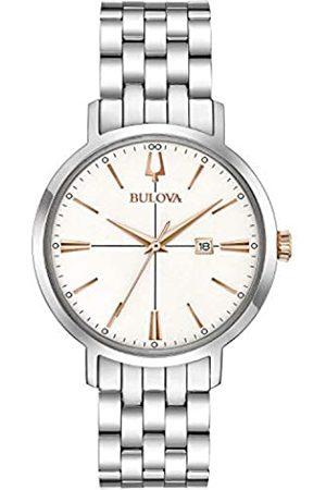 BULOVA Reloj Analógico para Mujer de Cuarzo con Correa en Acero Inoxidable 98M130