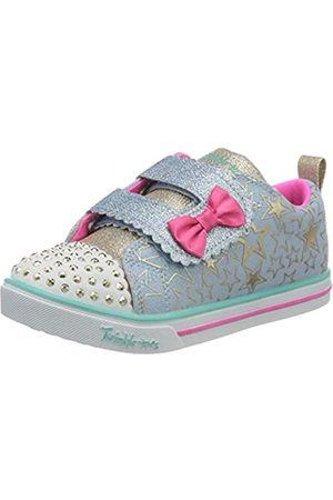 Skechers Sparkle Lite, Zapatillas para Niñas, (Light Blue Canvas/Multi Trim Lbmt)