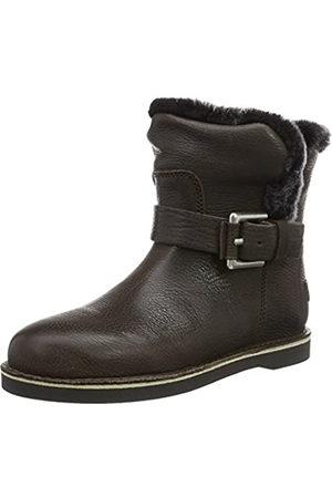 Shabbies Amsterdam Shabbies Buckle Strap Short Boot 17cm Merino Lammy Lining Alexia, Botines para Mujer, (Grey)
