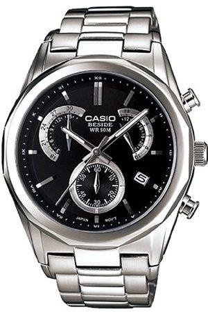 Casio BEM-509D-1AVEF - Reloj analógico de cuarzo para hombre con correa de acero inoxidable
