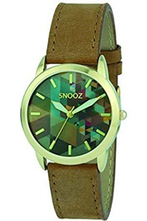 Snooz RelojAnalógicoparaMujerdeCuarzoconCorreaenCueroSpa1039-80