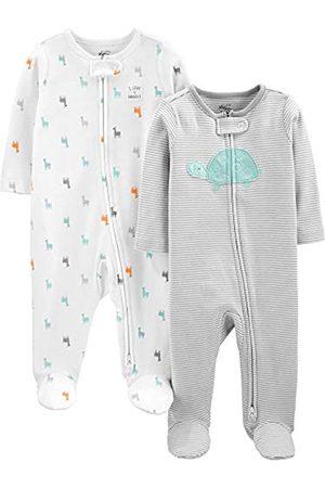 Simple Joys by Carter's Cremallera de 2 vías de algodón para Dormir y Jugar. Infant-and-Toddler-Bodysuit-Footies