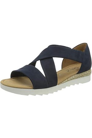 Gabor Shoes Comfort Sport, Sandalia con Pulsera para Mujer, (Navy (Jute) 36)