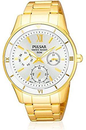 Seiko Pulsar Reloj analogico para Mujer de Cuarzo con Correa en Acero Inoxidable PP6068X1