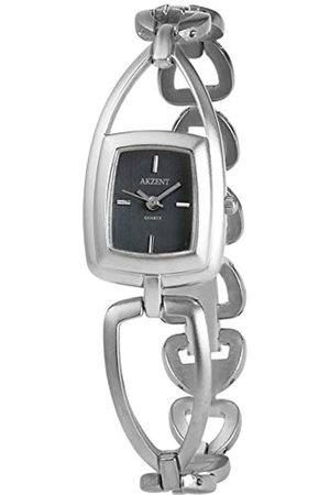 Akzent SS7123000076 - Reloj analógico de mujer de cuarzo con correa de aleación plateada - sumergible a 30 metros