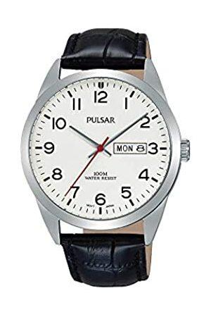Seiko Pulsar Hombre Reloj de Pulsera analógico Cuarzo Piel pj6065 X 1