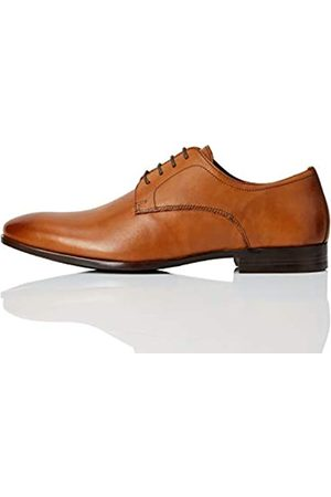 FIND Marca Amazon - Fidel Zapatos de Cordones Derby, Classic Tan