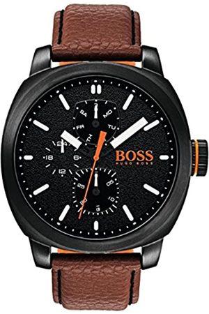 HUGO BOSS Reloj Multiesfera para Hombre de Cuarzo con Correa en Cuero 1550028