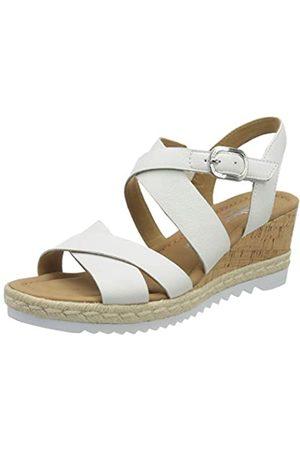 Gabor Shoes Comfort Sport, Sandalia con Pulsera para Mujer, (Weiss (Kork/Jute) 51)