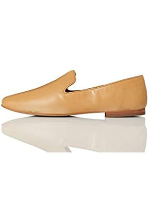 FIND Soft Leather Slipper Mocasín, Braun (Pale Tan)
