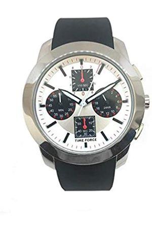 Time Force Reloj Analog-Digital para Mens de Automatic con Correa en Cloth S0322692