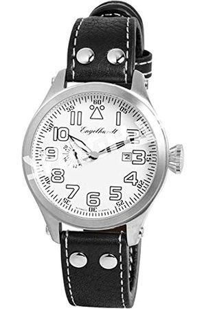 Engelhardt 388722529011 - Reloj analógico de caballero automático con correa de piel negra - sumergible a 50 metros