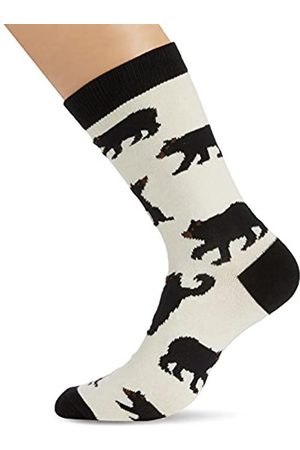 Hatley Mens Crew Socks Black Bears Calcetines