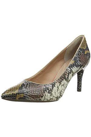 Rockport Total Motion 75mm Pointy Toe Plain Pump, Zapatos de tacón con Punta Cerrada para Mujer, (Multi Snake LTHR 010)